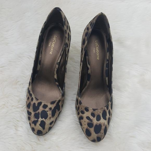 20322d5b20 Liz Claiborne Flex Leopard Animal Print Heels 9. Liz Claiborne.  M_5bb2a9012beb794ad9dfe172. M_5bb2a8f5a31c33854831890c.  M_5bb2a90d3c9844a605480df9